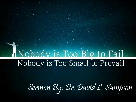 Nobody is Too BIG To Fail Nobody is Too SMALL To Prevail