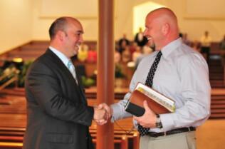 Pastor Greeting Members - Membership