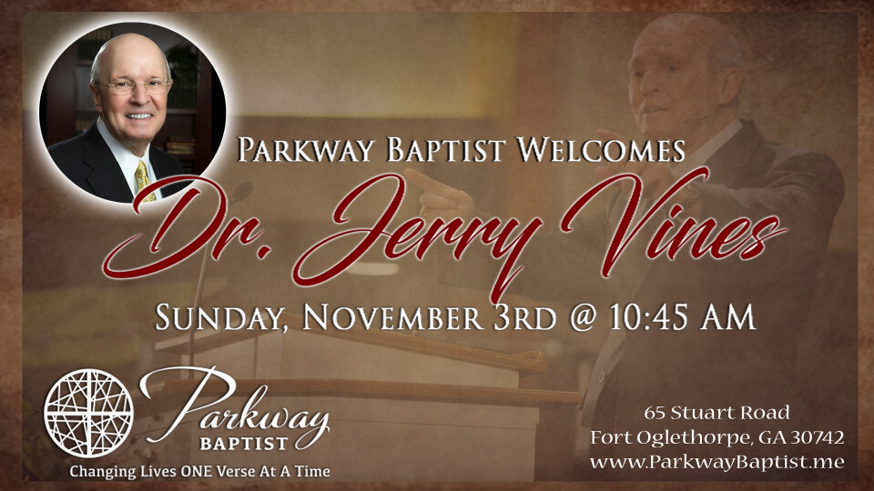 Dr. Jerry Vines in the AM Service