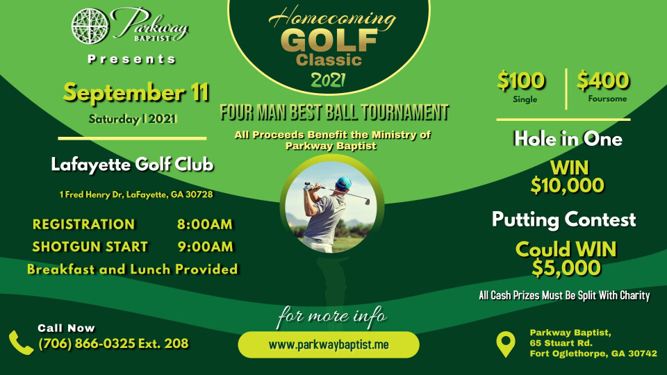 Parkway Homecoming Golf Classic Tournament